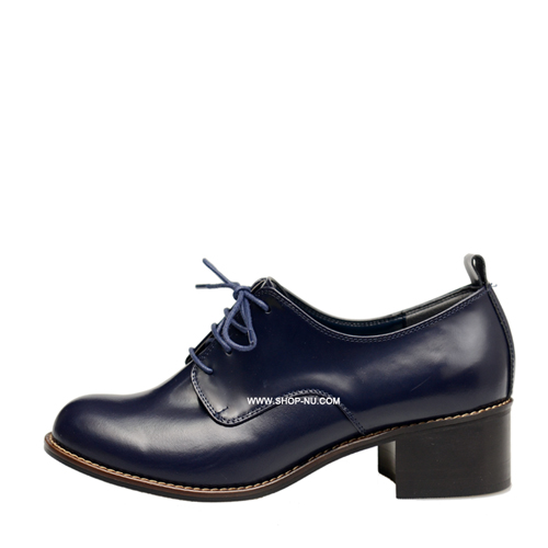 2COLORS BOX LEATHER MID HEEL OXFORD.4