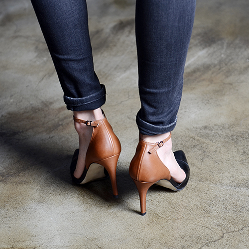 AUTUMN TWO TONE LEATHER SEPARATED PUMPS 9