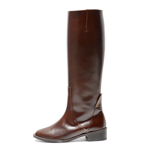 BUNT BROWN LEATHER RIDING BOOTS 3'0.7